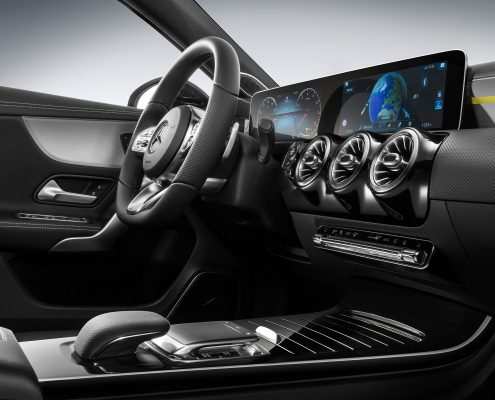 Enterijer nove Mercedes A klase za 2018