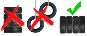 Pravilno odlaganje auto guma bez felni